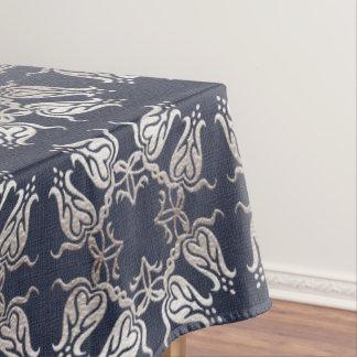 motif bleu floral de style baroque nappe