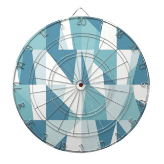 Motif bleu géométrique jeux de fléchettes
