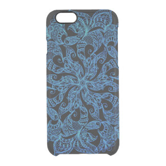 Motif bleu, ornemental, ethnique, coque iPhone 6/6S