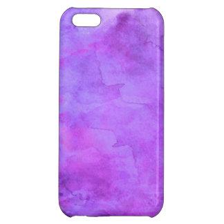 Motif bleu pourpre violet de texture d'aquarelle étuis iPhone 5C