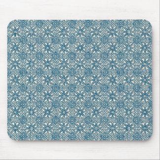 Motif bleu turquoise de noeud celtique tapis de souris