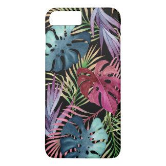 Motif botanique de feuillage tropical coloré coque iPhone 7 plus