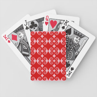 Motif bouclé de diamant cartes à jouer
