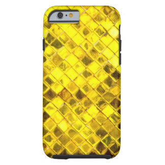 Motif brillant de diamant d'or coque iPhone 6 tough