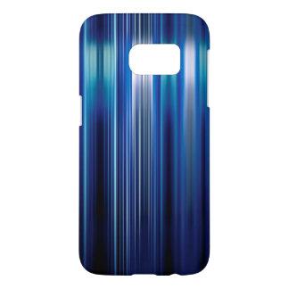 Motif brillant de rayures bleues coque samsung galaxy s7