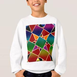 Motif carré coloré carrelé sweatshirt