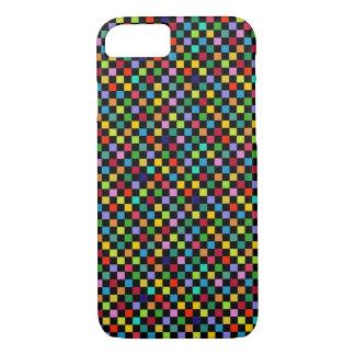 motif carré coloré coque iPhone 7