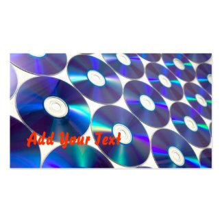 Motif CD numérique bleu Carte De Visite Standard