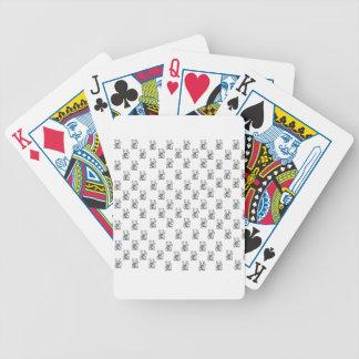 Motif chanceux de conception de chemise de chat jeu de poker