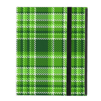 Motif Checkered de couleur verte Étuis iPad