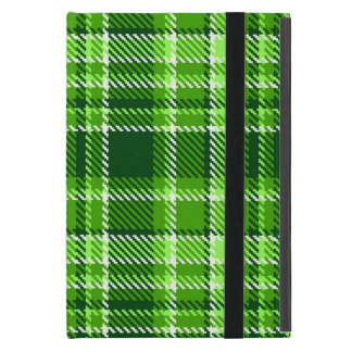 Motif Checkered de couleur verte Étuis iPad Mini