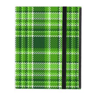 Motif Checkered de couleur verte Protection iPad