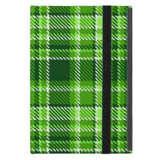 Motif Checkered de couleur verte Protection iPad Mini