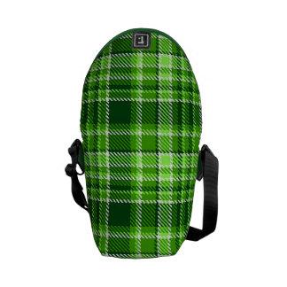 Motif Checkered de couleur verte Sacoche