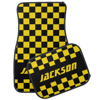 Motif Checkered | de drapeau de voiture de course Tapis De Sol