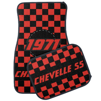 Motif Checkered | de drapeau de voiture de muscle Tapis De Sol