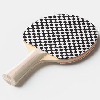 Motif Checkered noir et blanc Raquette Tennis De Table
