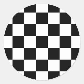 damier noir et blanc autocollants stickers damier noir et. Black Bedroom Furniture Sets. Home Design Ideas