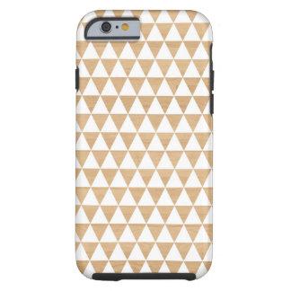 Motif chic géométrique en bois tribal moderne des  coque tough iPhone 6