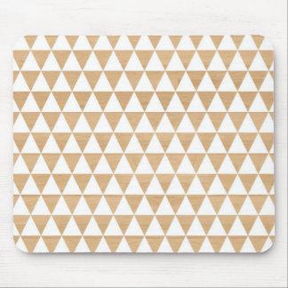 Motif chic géométrique en bois tribal moderne des  tapis de souris
