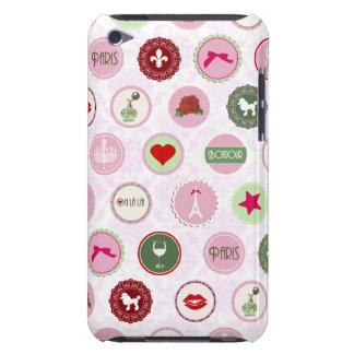 Motif chic minable rose vintage de Paris Coque iPod Touch Case-Mate