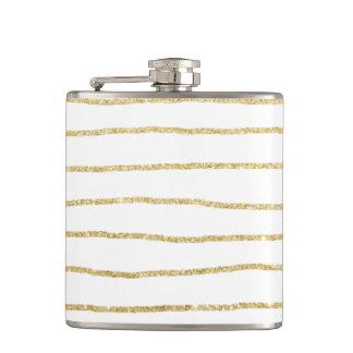 motif clair élégant de rayures d'or flasques