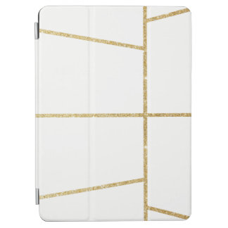 motif clair élégant de scintillement d'or protection iPad air