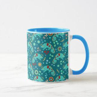 Motif coloré de caméléon mugs