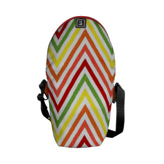 Motif coloré de Chevron de zigzag Sacoches
