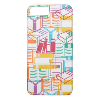 Motif coloré de classeurs de livres coque iPhone 7 plus