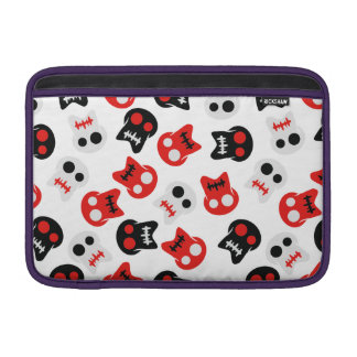 Motif coloré de crâne comique poche pour macbook air