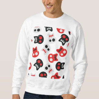 Motif coloré de crâne comique sweatshirt