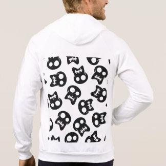 Motif coloré de crâne comique veste à capuche