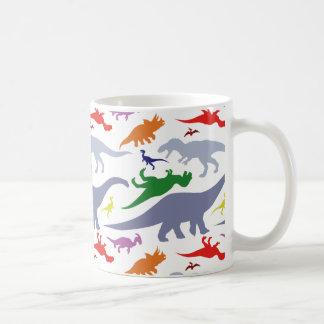 Motif coloré de dinosaure (lumière) mug