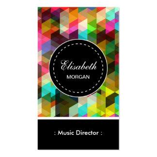 Motif coloré de directeur de musique mosaïque carte de visite standard