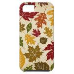 Motif coloré de feuille d'arbre d'automne étuis iPhone 5