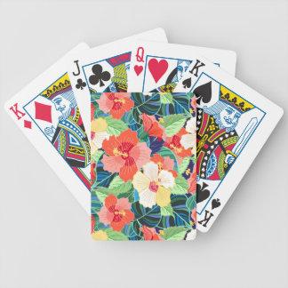 Motif coloré de ketmie jeu de cartes