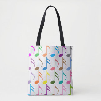 Motif coloré de notes musicales sac