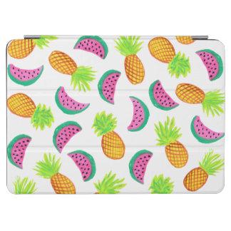 motif coloré de pastèque d'ananas d'aquarelle protection iPad air