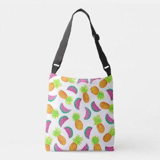 motif coloré de pastèque d'ananas d'aquarelle sac ajustable