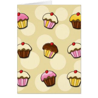 Motif coloré de petits gâteaux carte de vœux