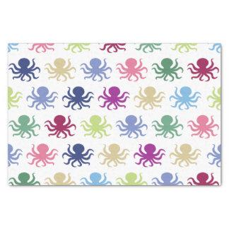 Motif coloré de poulpe papier mousseline