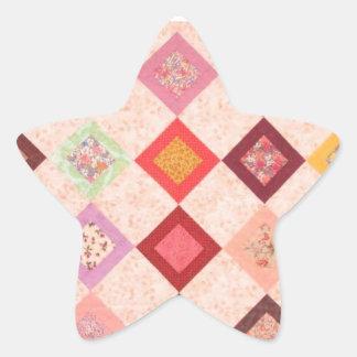 Motif coloré de tissus sticker étoile