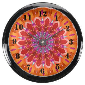 Motif coloré décoratif horloges marines