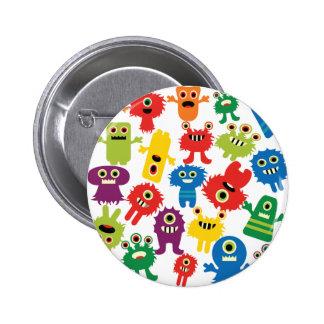 Motif coloré drôle mignon de monstres badges