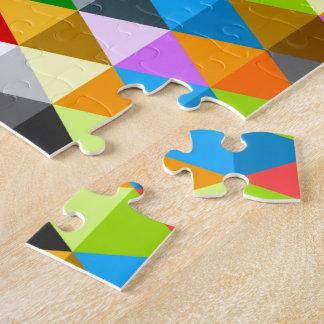 Motif coloré génial lumineux moderne de triangles puzzle