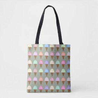 Motif coloré lumineux de sac fourre-tout à cornet