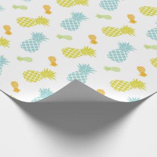 Motif coloré mignon d'ananas papier cadeau
