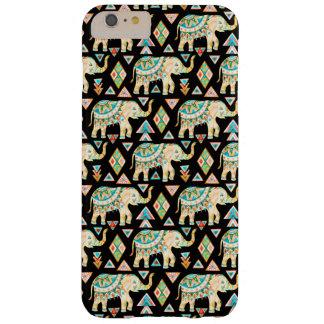 Motif coloré mignon d'éléphants d'Asie Coque Barely There iPhone 6 Plus