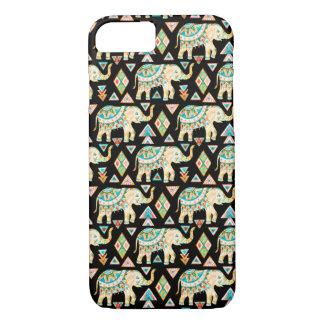Motif coloré mignon d'éléphants d'Asie Coque iPhone 7